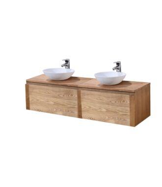 Badkamermeubel Verona Wood Eiken 160 cm