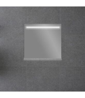 Badkamerspiegel met LED Verlichting 58 met Spiegelverwarming en Onderverlichting