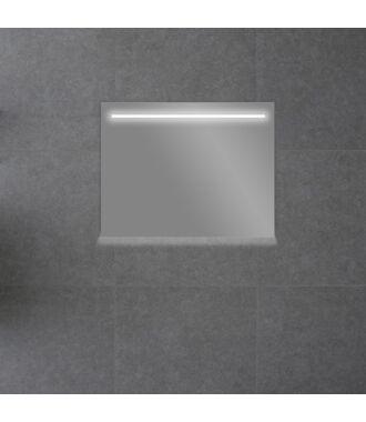 Badkamerspiegel met LED Verlichting 80 met Spiegelverwarming en Onderverlichting