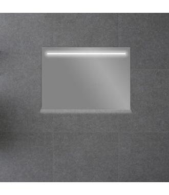 Badkamerspiegel met LED Verlichting 100 met Spiegelverwarming en Onderverlichting