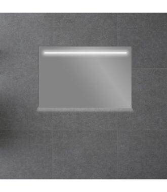 Badkamerspiegel met LED Verlichting 120 met Spiegelverwarming en Onderverlichting
