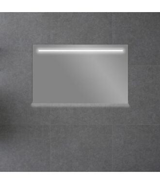 Badkamerspiegel met LED Verlichting 140 met Spiegelverwarming en Onderverlichting