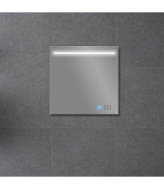 Badkamerspiegel met LED/TL Verlichting , Radio en Bluetooth 60 cm met Spiegelverwarming