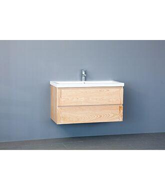 Badkamermeubel Nola Wood Eiken Keramiek 80 cm