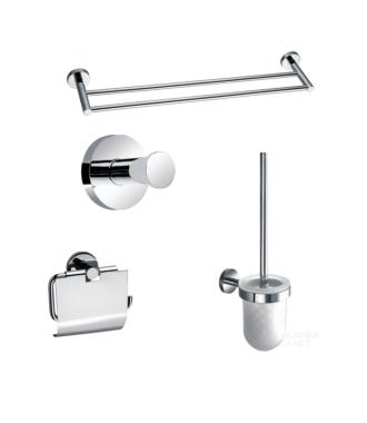 Toilet Accessoire Set Rond Chroom