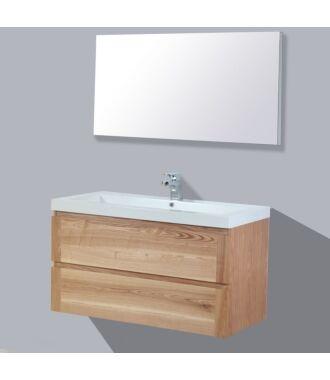 Badkamermeubel Nola Wood Eiken Keramiek 100 cm