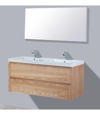 Badkamermeubel Nola Wood Eiken Keramiek 120 cm