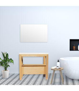 Badkamermeubel Rubio Wood Eiken met Flat Kunstmarmer Top 100 cm