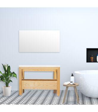 Badkamermeubel Rubio Wood Eiken met Flat Kunstmarmer Top 120 cm