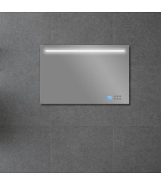 Badkamerspiegel met LED/TL Verlichting, Radio en Bluetooth 100 cm met Spiegelverwarming