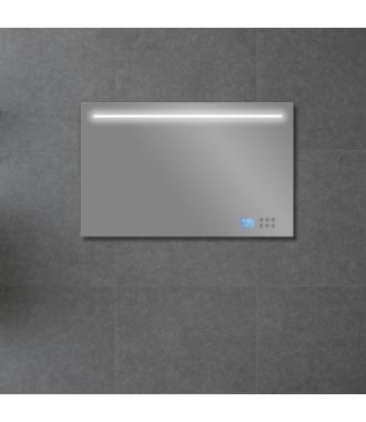 Badkamerspiegel met LED/TL Verlichting, Radio en Bluetooth 120 cm met Spiegelverwarming