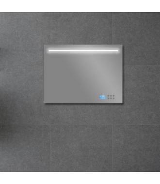 Badkamerspiegel met LED/TL Verlichting, Radio en Bluetooth 80 cm