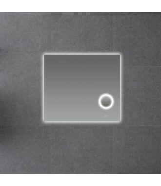 Badkamerspiegel met LED Verlichting en Make Up Spiegel met Touch en Dimbaar in 3 Standen 80 cm met Spiegelverwarming