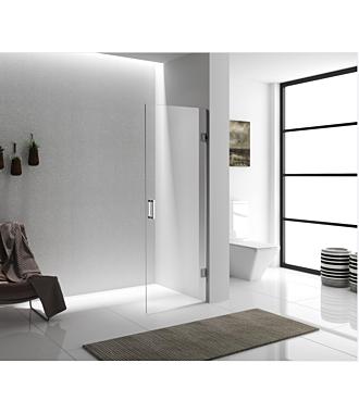Douchedeur zonder Profiel Chroom Nano Clean Anti Kalk 90x200 cm