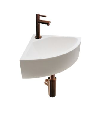 Solid Surface Fonteinset Corner Brons 30x30x10 cm