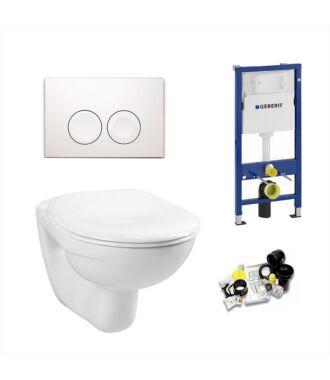 Geberit UP100 Toiletset Simple Inclusief Softclose Zitting & Drukplaat Delta 21 wit
