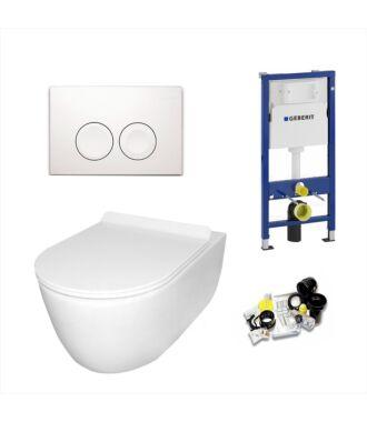 Geberit UP100 Toiletset Sani Royal Budget Rimfree Compact 48 cm Delta 21 Wit