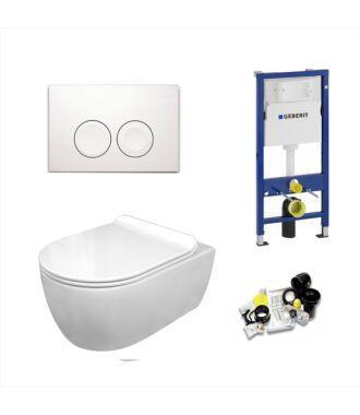 Geberit UP100 Toiletset Sani Royal Standaard Rimfree Flatline 55 cm Delta 21 Wit