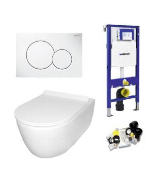 Geberit UP320 Toiletset Sani Royal Budget Rimfree Compact 48 cm Sigma 01 Wit
