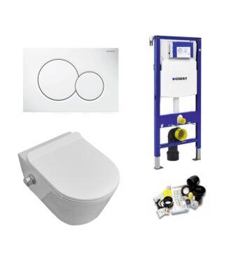 Geberit UP320 Toiletset Sani Royal Easy Flush Slim met Bidet Rimfree 55 cm Sigma 01 Wit