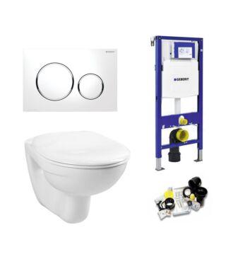 Geberit UP320 Toiletset Simple Basic Inclusief Zitting & Drukplaat Sigma 20 chroom/wit