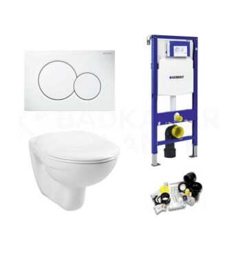 Geberit UP320 Toiletset Simple Inclusief Zitting & Drukplaat Wit