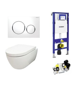 Geberit UP320 Toiletset Sani Royal Compact Rimfree 49 cm Sigma 20 chroom/wit
