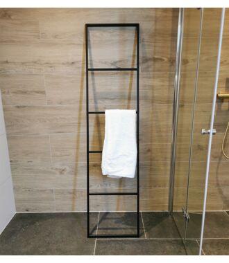 Handdoekrek Ladder Staand Industrieel Mat Zwart