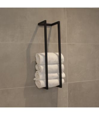 Reserve Handdoekrek Industrieel Mat Zwart Frame Beugel