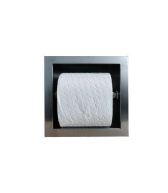 Inbouw WC Rolhouder RVS voor 1 Rol 9 cm diep