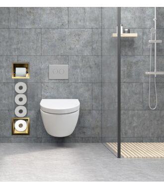 Inbouw Toilet Reserve Rolhouder met 1 Houder RVS Geborsteld Goud