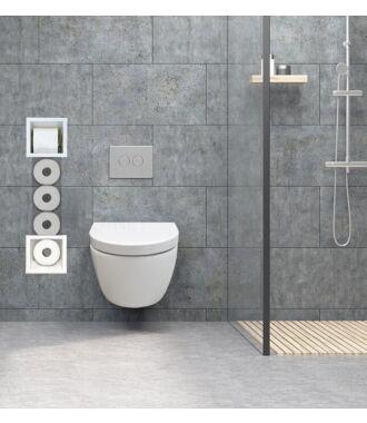 Inbouw Toilet Reserve Rolhouder met 1 Houder RVS Wit