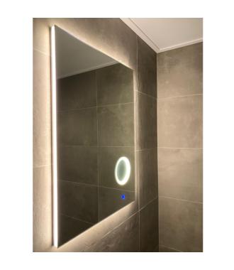 Badkamerspiegel met LED Verlichting en Make Up Spiegel met Touch en Dimbaar in 3 Standen 60 cm met Spiegelverwarming
