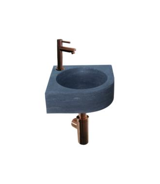 Natuursteen Fonteinset Rione met Kraan, Afvoer en Sifon Brons 30x30x10 cm