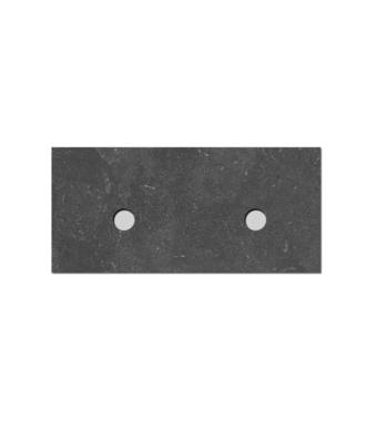 Natuursteen Top paneel 120 cm met 2 afvoergaten