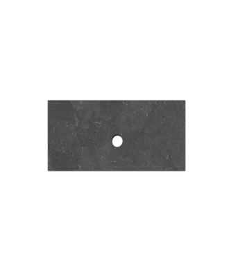 Natuursteen Top paneel 80 cm met 1 afvoergat