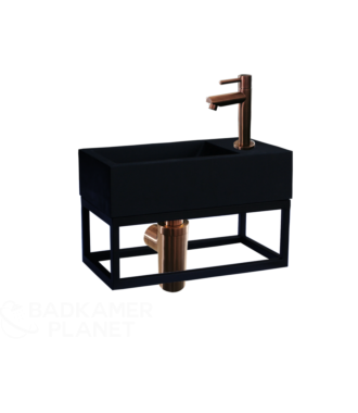 Fontein Frame Mat Zwart Quartz Brons 40x22x10 cm