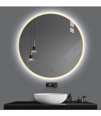 Badkamerspiegel Rond LED Goud 100 cm