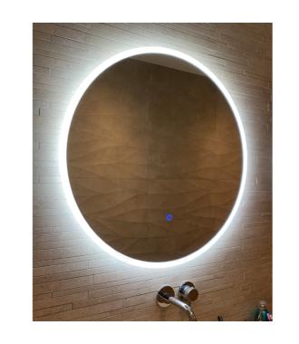 Ronde Badkamerspiegel met LED Verlichting met Touch en Dimbaar in 3 Standen 60 cm met Spiegelverwarming