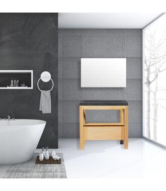 Badkamermeubel Rubio Wood Eiken Natuursteen 100 cm