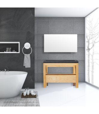Badkamermeubel Rubio Wood Eiken Natuursteen 120 cm