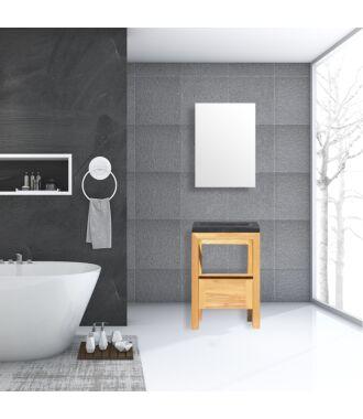 Badkamermeubel Rubio Wood Eiken Natuursteen 60 cm