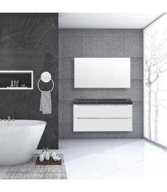 Badkamermeubel Sensio Natuursteen 120 cm Hoogglans Wit