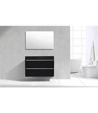 Badkamermeubel Generation Deep Black 100 cm Quartz Design