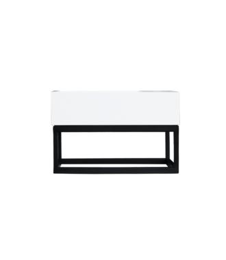 Fontein Frame Mat Zwart Solid Surface 40x22x10 cm