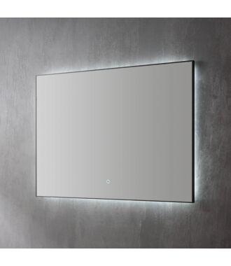 Spiegel Infinity Indirect LED verlichting met zwarte omlijsting 80 cm