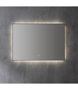 Spiegel Infinity Indirect LED verlichting met zwarte omlijsting 60 cm met Spiegelverwarming