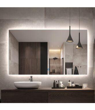 Badkamerspiegel LED met Directe Rondom Verlichting 120 cm met Spiegelverwarming