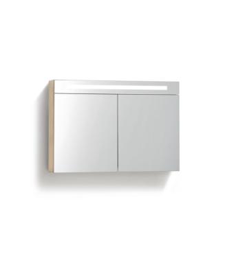 Spiegelkast 80 cm met TL Verlichting Light Wood