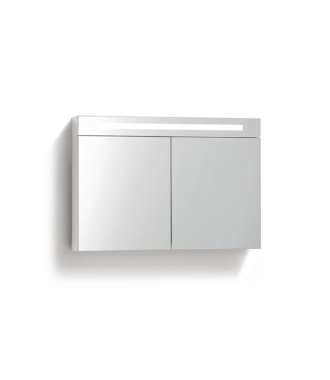 Spiegelkast 100 cm met TL Verlichting Wit